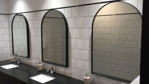 Arched Black Frame Mirrors