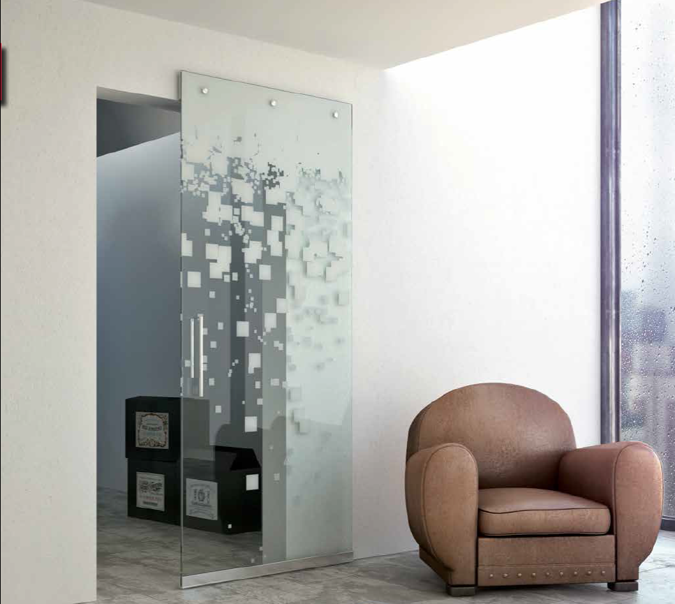 Decor series interior sliding door customcote glass for Interior sliding glass doors